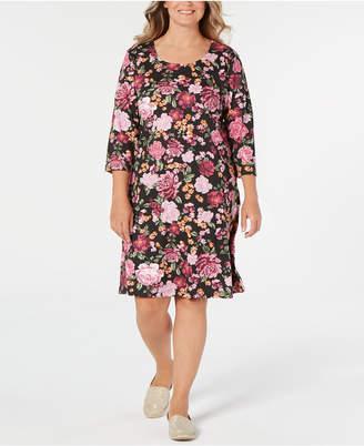 Karen Scott Plus Size Floral-Print Swing Dress