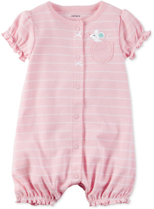 Carter's Striped Mouse Romper, Baby Girls (0-24 months) $14 thestylecure.com