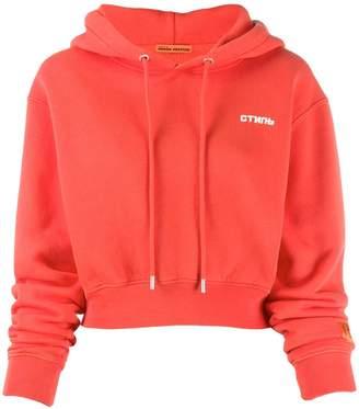 Heron Preston cropped logo hoodie
