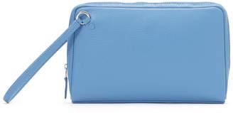 GALLERIANT レザー セカンドバッグ 15.5x25cm ブルー