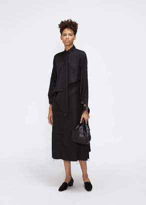 Yohji Yamamoto Y's by Long Sleeve Asymmetric Dress