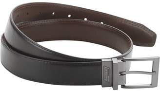Dickies Genuine  Men's Genuine Leather Reversible Work Belt with Stictching Detail and Gunmetal Buckle