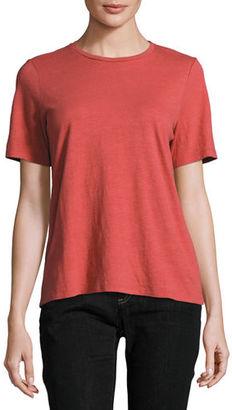 Eileen Fisher Short-Sleeve Slubby Organic Jersey Top $68 thestylecure.com
