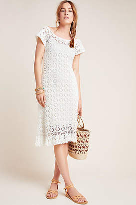 Anthropologie Brittania Crochet Midi Dress