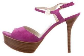 MICHAEL Michael Kors Platform Suede Sandals