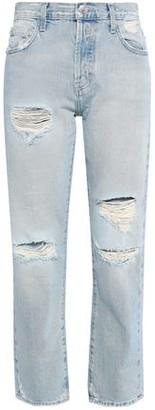 Current/Elliott Distressed Boyfriend Jeans