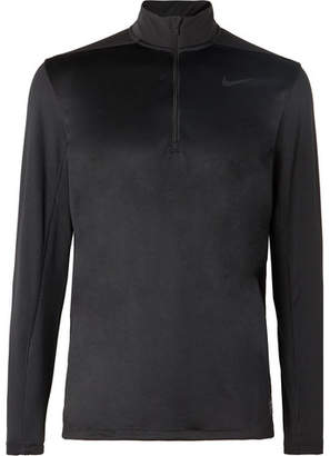 Nike Stretch Mesh-Panelled Dri-Fit Half-Zip Top