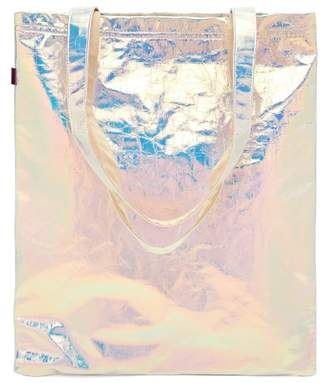 Farah Sies Marjan Iridescent Bonded Cotton Tote - Womens - Silver