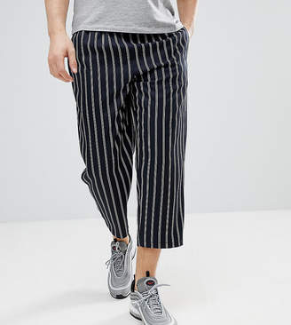 Reclaimed Vintage Inspired Cropped Relaxed PANTS In Stripe