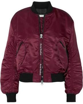 Acne Studios Ruched Shell Bomber Jacket