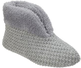 Dearfoams Textured Knit Booties