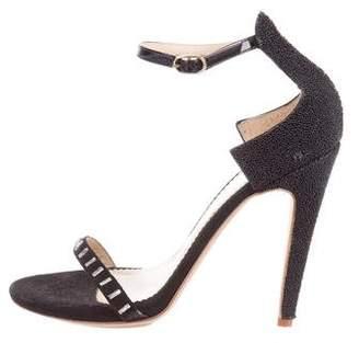 Aperlaï Embellished Suede Sandals