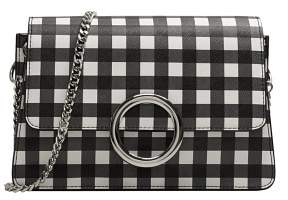 MANGO Gingham check bag