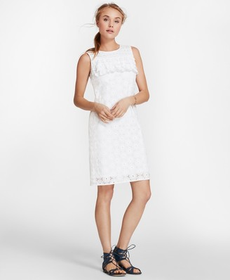 Brooks Brothers Cotton Eyelet Shift Dress