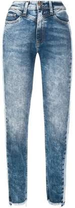Hudson stonewashed straight jeans
