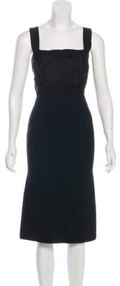 Nina Ricci Silk-Trimmed Midi Dress
