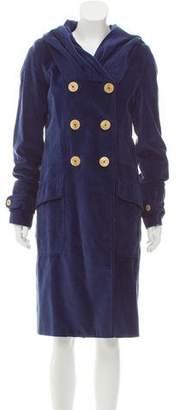 Nina Ricci Corduroy Trench Coat