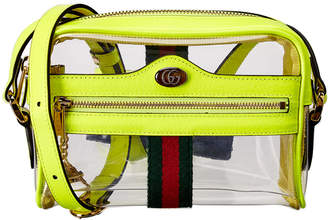 Gucci Ophidia Mini See-Through Vinyl & Leather Crossbody