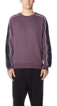 3.1 Phillip Lim Crew Neck Sweatshirt with Track Stripe