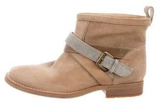 Brunello Cucinelli Leather Round-Toe Ankle-Boots Tan Leather Round-Toe Ankle-Boots