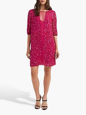 63af04d08ca French Connection Diana Sequin Dress, Pink Opulence