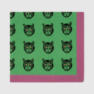Gucci Mystic Cats wool baby blanket