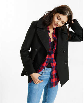 Express piped peacoat $148 thestylecure.com