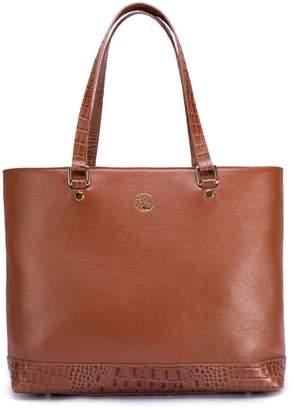 Vicenzo Leather Agatha Croc Embossed Leather Shoulder Handbag