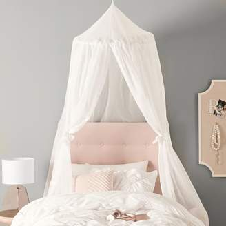 Pottery Barn Teen Fairy Light Canopy Cream & Lighted Bed Canopy - ShopStyle