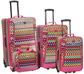 Rockland 4-Piece Tribal Luggage Set