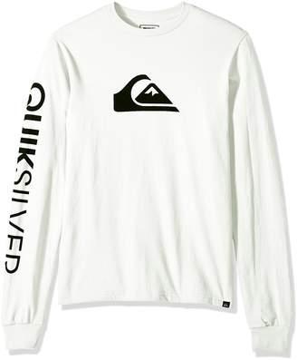 Quiksilver Men's Mountain and Wave Logo Long Sleeve