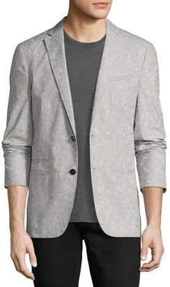 John Varvatos Thompson Paisley Jacquard Sport Coat, Gray