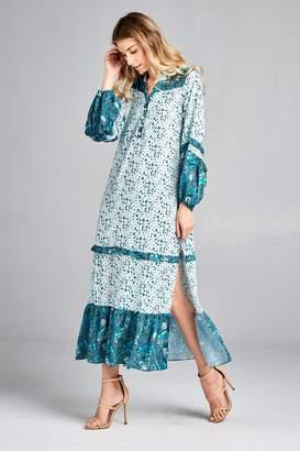 Racine Boho Print-Maxi Dress