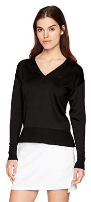 Lacoste Women's Classic Jersey V-Neck Sweater