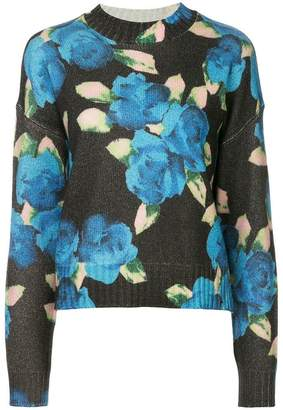 MSGM floral long-sleeve sweater