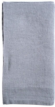 Canvas Set of 4 French Linen Dinner Napkins - Light Gray