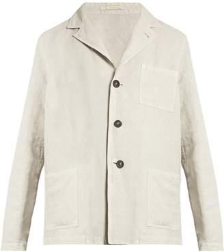 Massimo Alba Baglietto linen-blend single-breasted blazer