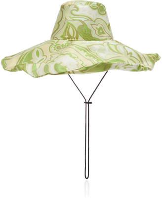 Etro Floral Silk Sun Hat