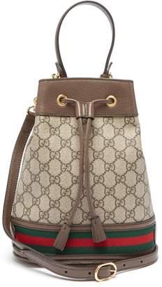 Gucci Ophidia Gg Supreme Small Bucket Bag - Womens - Grey Multi