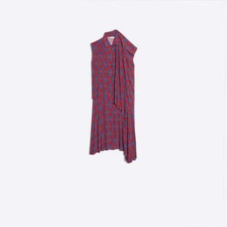 Balenciaga Paisley print silk asymmetrical twinset dress