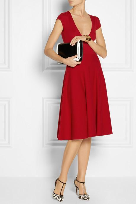 Donna Karan Wool-blend dress