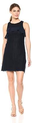 Ellen Tracy Women's Flounce Yoke Fit and Flare Dress