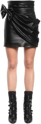 Mini Skirt W/ Leather Bow