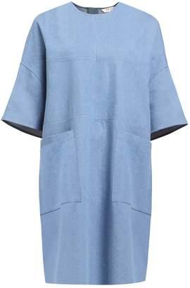 PAISIE - Oversized Boxy Denim T-Shirt Dress