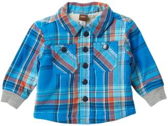 Tea Collection Faux Fur Lined Flannel (Baby Boys)