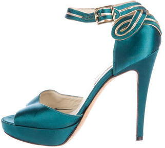 Brian Atwood Stella Satin Pumps $125 thestylecure.com