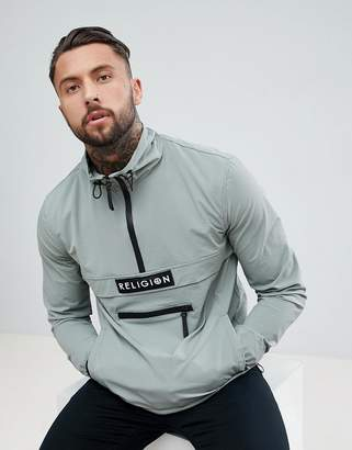 Religion Lightweight Jacket With Half Zip