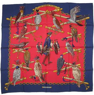 One Kings Lane Vintage Hermès Les Oiseaux du Roy Scarf