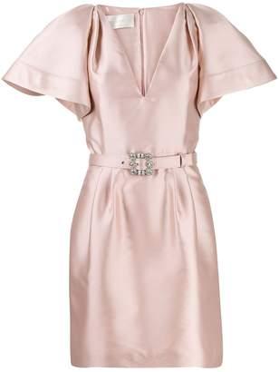 Alberta Ferretti belted mini dress