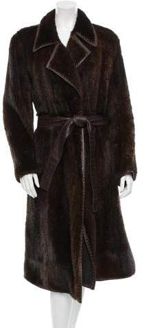Fendi Knitted Mink Coat